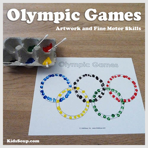 Olympic Rings Fine Motor Skills Artwork Kidssoup