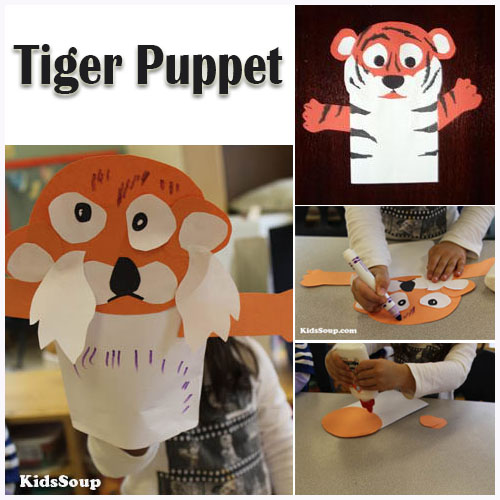tiger puppet template - tiger puppet kidssoup resource library