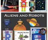 Space robots and alien theme and activities