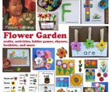 Flowers and garden theme and activities for preschool and kindergarten