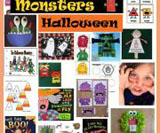 Monsters and Halloween theme and activities