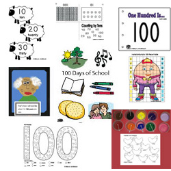 100 days of school activities and printables