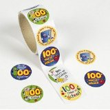 100 days of school stickers