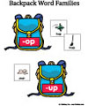 Backpack Word Family Folder Game