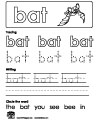 bat writing worksheet