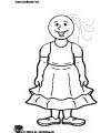 Goldilocks coloring page