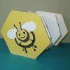 Bee life cycle booklet craft