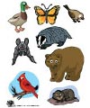 Animals in winter felt rhyme and printables