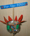 flower bird feeder