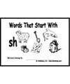 digraphs ch, sh, th booklet and printables