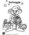 Santa's helper coloring page EarTwiggle