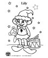 Santa's helper coloring page lily