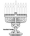 Hanukkah printables and coloring page