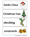 christmas and holiday word wall
