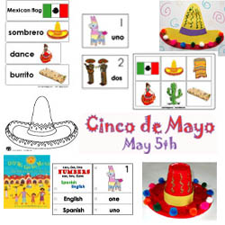 Cinco de Mayo crafts, printables, games and activities at KidsSoup