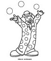 clown circus coloring page