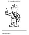 Mail Carrier coloring page free