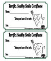 terrific teeth certificate