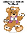 teddy bear band-aids word family folder game