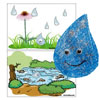 The little raindrop felt story
