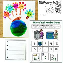 Earth Day Crafts preschool and kindergarten activities