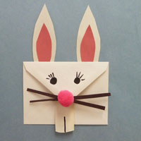 Easter Kids Craft Bunny Envelope from KidsSoup.com