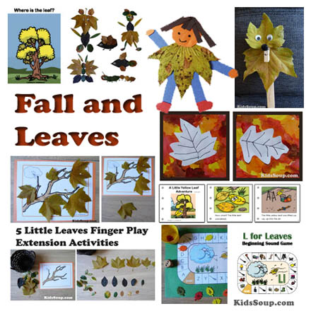 Fall and Leaves crafts, activities, and games