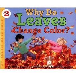 Preschool leaves color science book