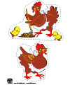 The little red hen printables