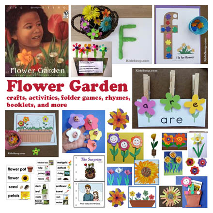 Preschool and Kindergarten Flowers crafts, activities, lessons