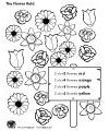 flower field colors worksheet
