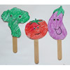 Fruit and vegetable puppets