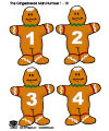 The gingerbread man math game