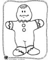 the gingerbread man coloring page