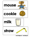 if you give a mouse a cookie word wall