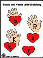 Hand and hearts ABC Game