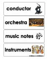Music and Instruments word wall