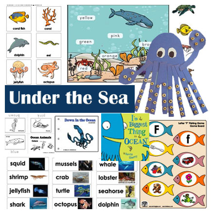 Ocean animals crafts, activities, games for preschool and Kindergarten