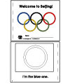 Olympic rings booklet