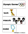 Olympic games word wall