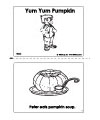 pumpkin emergent reader booklet