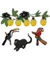 Rainforest felt story printables