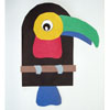Toucan and rainforest animals craft