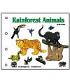 Rainforest animals emergent reader book