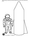 astronaut space coloring page