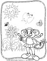 Lily flower garden coloring