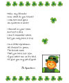 leprechaun letter printable