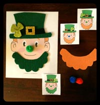 Leprechaun concentration game