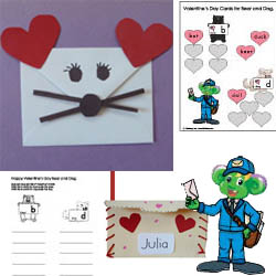 new preschool and kindergarten Valentine's Day craft and activities for 2013