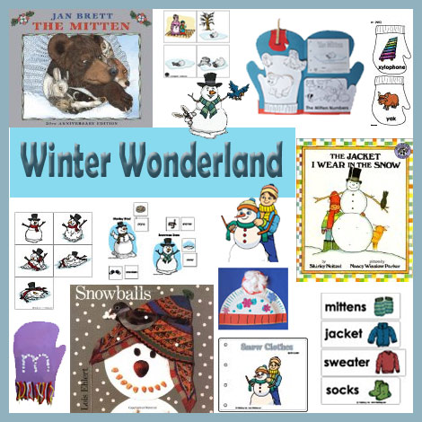 Winter Wonderland preschool and kindergarten winter preschool and kindergarten crafts and activities